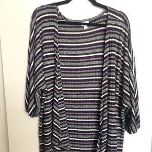 LuLaRoe Lindsay Striped Cardigan